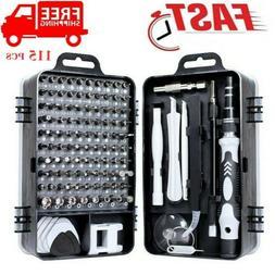 115 In 1 Screwdriver Maintenance Repair Tool Kit Magnetic El