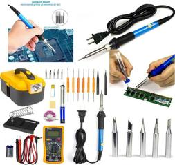 60W 110V Electronic Soldering Iron Gun Tool Kit Welding Deso