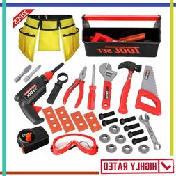 kids tool kit electronic drill pretend play