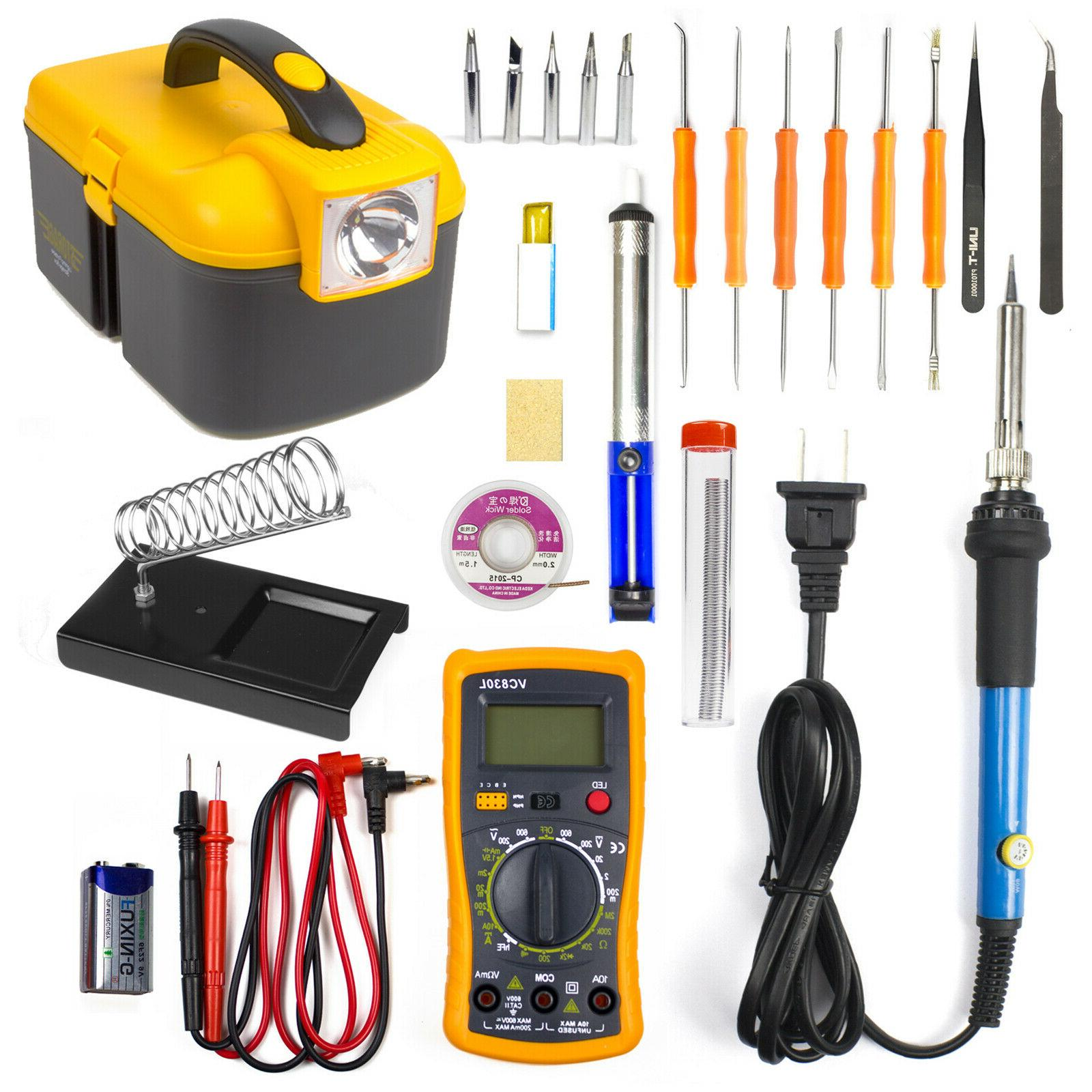 electronic soldering iron gun tool kit 60w