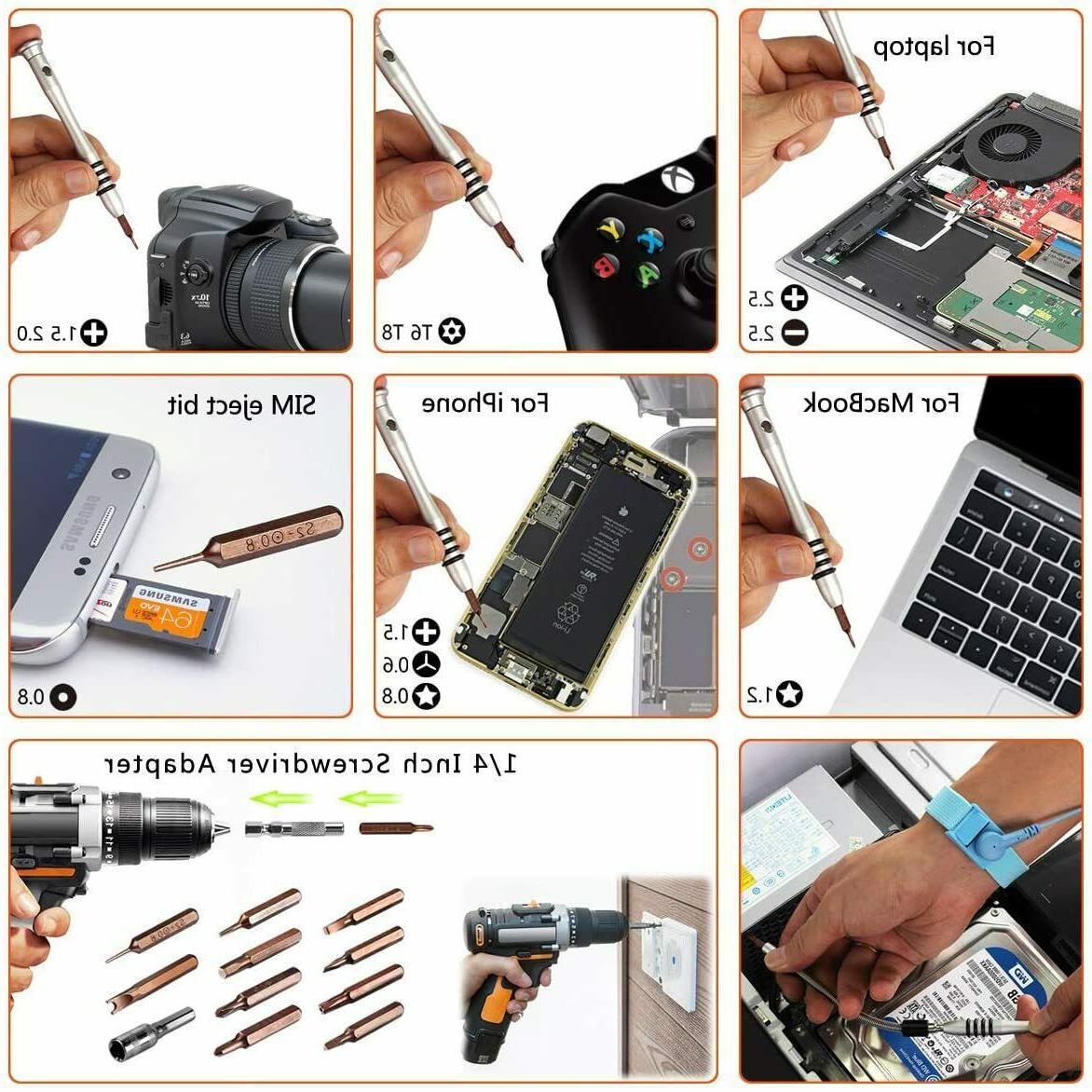 90pcs Tool Kit Screwdriver PC iPhone Table Phone