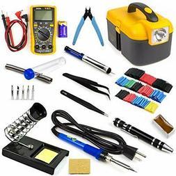 Soldering Iron Tool Kit Electronics Adjustable Temperature W